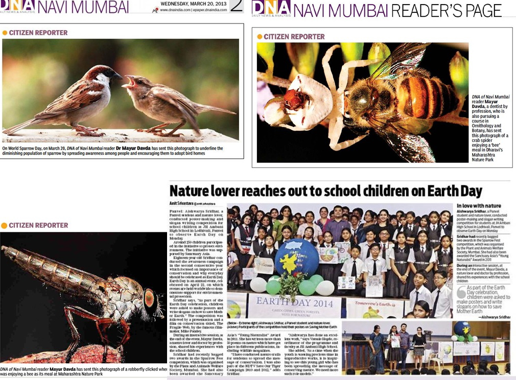 Images published in some of the most leading newspapers of India